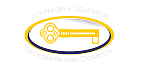 Johnson and Johsnon Locksmith and Door Company Logo